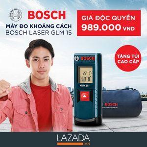 [QC] Máy đo khoảng cách Bosch Laser GLM 15 tặng kèm túi du lịch với giá chỉ 989.000 VND