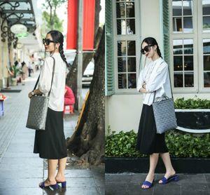Soi tủ đồ xuống phố ngày hè của fashionista Helly Tống