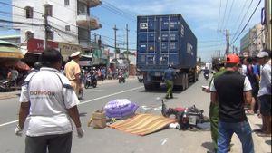 Vạ chạm xe container, người đàn ông tử vong