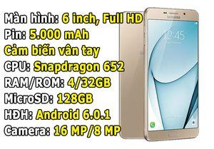 Samsung công bố giá bán smartphone màn hình 6 inch, RAM 4 GB