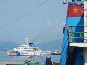 Sỹ quan và thực tập sinh trên tàu Nhật Bản tới Đà Nẵng
