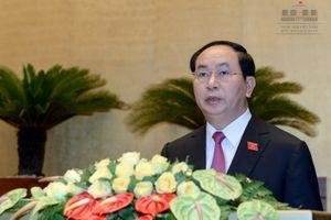 Chủ tịch nước Trần Đại Quang ra mắt báo giới
