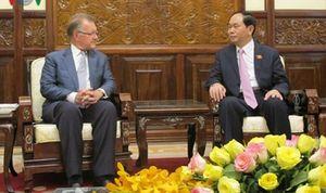 Chủ tịch nước Trần Đại Quang tiếp GS Đại học Harvard