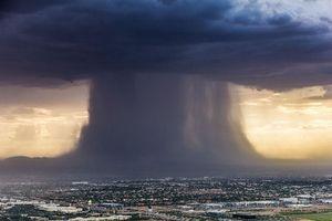 Sợ khủng khiếp khoảnh khắc bom mưa Microburst hình thành