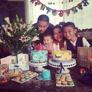 Kim Hiền và chồng đại gia tổ chức sinh nhật ấm áp cho hai con