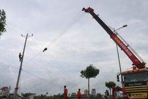 Ưu tiên cấp điện trở lại cho các trạm bơm tiêu úng