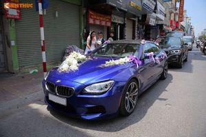 """Dàn """"xế hộp"""" hạng sang BMW rầm rộ rước dâu tại Hà Nội"""