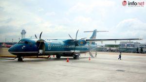 Máy bay ATR tại Tân Sơn Nhất bị móp bụng vì va chạm với thùng hàng