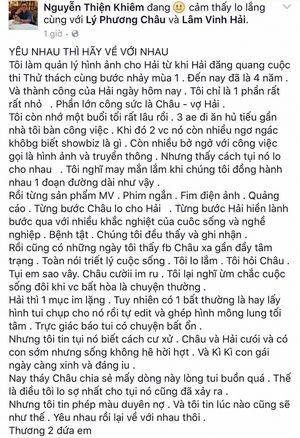 Xúc động với lời chia tay văn minh của vợ Lâm Vinh Hải