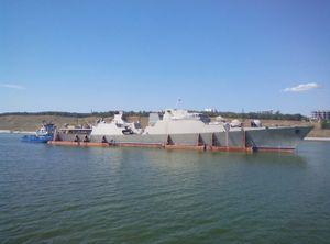 Chùm ảnh tàu chiến Gepard của Việt Nam trên sông Volga ra Biển Đen