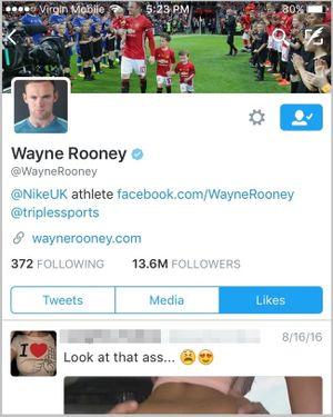 Rooney bị bắt quả tang xem phim khiêu dâm online