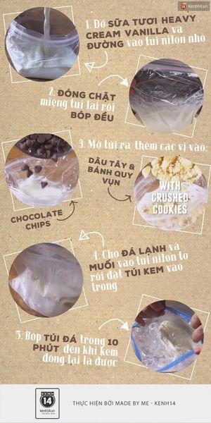 Mách bạn một cách làm kem cực ngon không cần cả... tủ lạnh