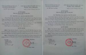 Đình chỉ 2 công chức Thanh tra bị công an tạm giữ