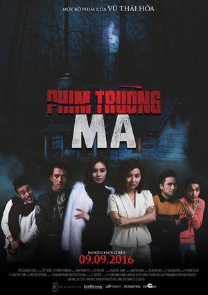 Lan Ngọc, Lê Khánh bí hiểm trên poster rùng rợn của 'Phim trường ma'