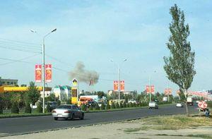Hiện trường đánh bom Đại sứ quán Trung Quốc ở Kyrgyzstan