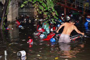 Hơn 1.000 xe máy chìm nghỉm dưới tầng hầm ở Sài Gòn