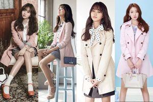 Đầu thu, loạt sao Hàn cùng diện áo trench coat
