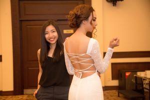 Hoa hậu Ngọc Diễm lần đầu làm vedette cho nhà thiết kế An Nhiên