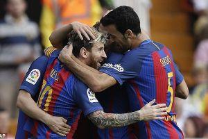 Thi đấu bùng nổ, Valencia vẫn bị Messi nhấn chìm trên sân nhà