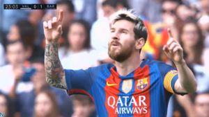 Tình huống ghi bàn gây tranh cãi của Messi