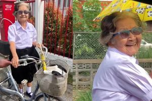 Bà ngoại 84 tuổi mặc đồng phục 'siêu cute' tới trường dự kỳ thi lớp 6