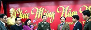 Bộ trưởng Bộ Công an thăm, chúc Tết Đảng bộ, chính quyền và nhân dân Thủ đô