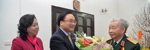 Bí thư Thành ủy Hoàng Trung Hải thăm, chúc Tết các đồng chí nguyên Bí thư Thành ủy Hà Nội