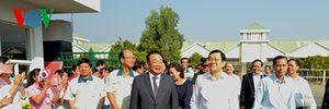 Chủ tịch nước Trương Tấn Sang thăm và chúc Tết nhân dân tỉnh Tây Ninh