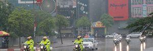 An ninh đội mưa bảo vệ ông Obama ngày cuối ở Hà Nội