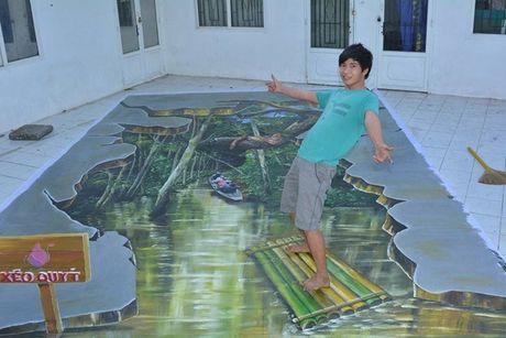 "Chang trai 9x voi biet tai ve tranh 3D duong pho ""nhu that"" - Anh 15"