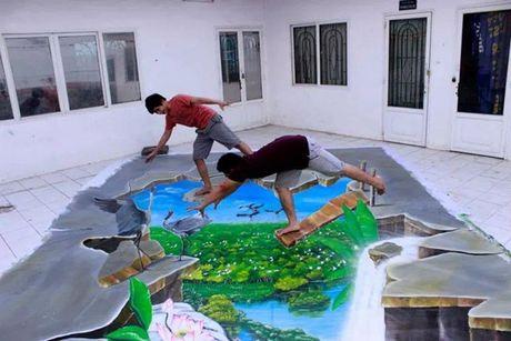 "Chang trai 9x voi biet tai ve tranh 3D duong pho ""nhu that"" - Anh 24"