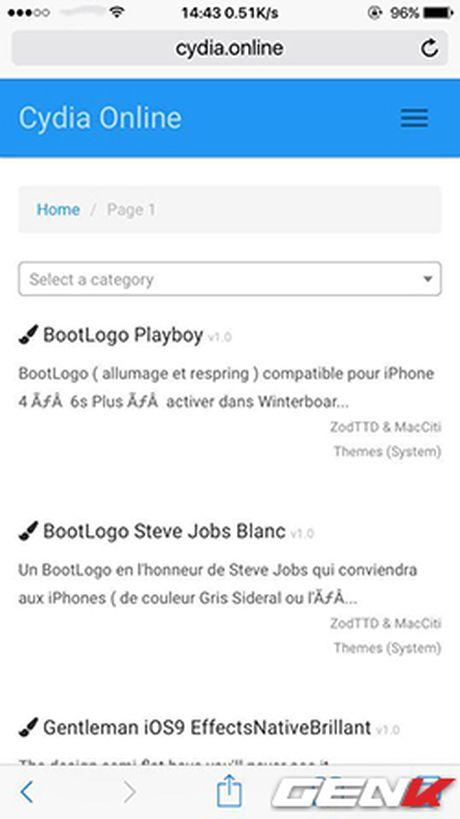 Xuất hiện website Cydia, tìm kiếm tweak iPhone dễ dàng hơn