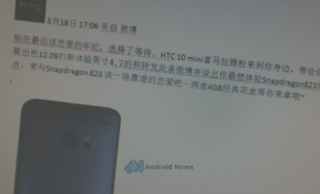 HTC M10 mini lo dien cau hinh cao hon M10 - Anh 1