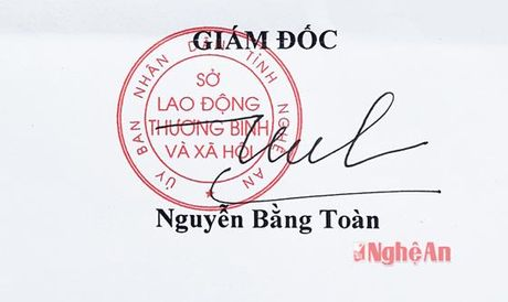 Chu ky lanh dao, dau cua So LD-TB&XH Nghe An bi gia mao - Anh 3