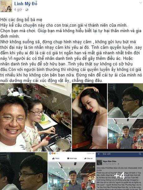 Nhan vu an Hoa hau Phuong Nga, ca si My Linh noi ve tinh va tien - Anh 1