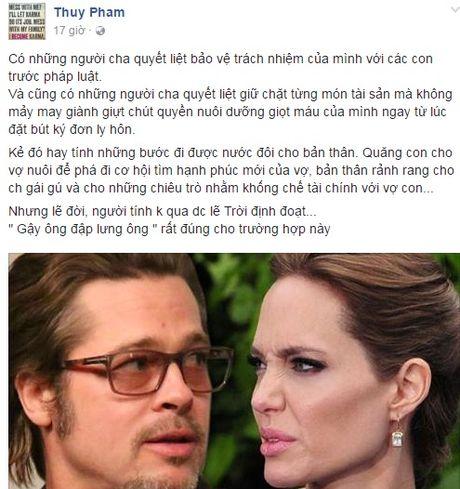 Ngoc Thuy muon chuyen Angelina 'to' chong cu khong co trach nhiem voi con? - Anh 1
