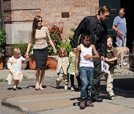 Brad Pitt bi cam gap con, cau xin Angelina co hoi thu hai - Anh 2
