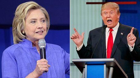 My: Tranh luan Clinton-Trump du kien thu hut 100 trieu nguoi xem - Anh 1