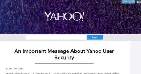 Yahoo xac nhan hon 500 trieu tai khoan nguoi dung cua ho da bi hack - Anh 1