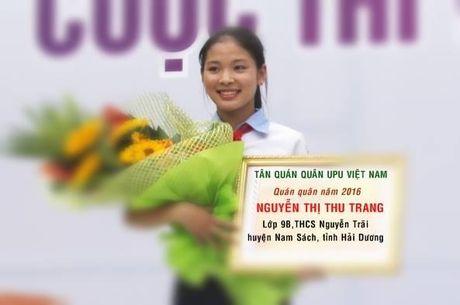 Viet Nam gianh giai Nhat cuoc thi Viet thu Quoc te UPU 45 - Anh 2