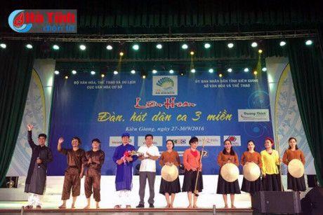 Hà Tĩnh giành 3 huy chương tại Liên hoan đàn, hát dân ca 3 miền