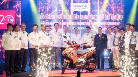 Honda da san xuat 20 trieu xe may tai Viet Nam - Anh 1
