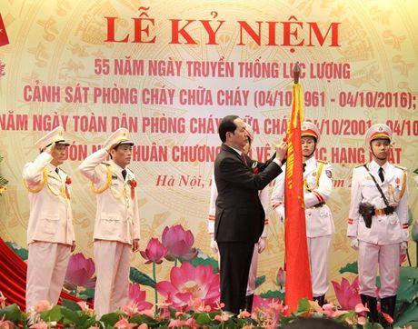Chu tich nuoc du Le ky niem 55 nam Ngay truyen thong luc luong Canh sat PCCC - Anh 2