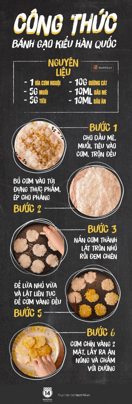 Cong thuc banh gao chien Han Quoc 'de khong tuong' tu com nguoi con thua - Anh 1