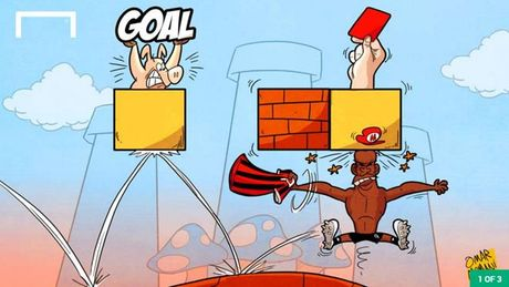Hi hoa Balotelli huc gach ra the do khi choi game Mario - Anh 1