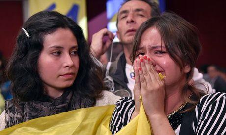 Nguoi dan Colombia phan doi hiep uoc hoa binh voi phien quan FARC - Anh 1