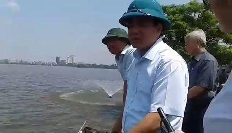 Clip Chu tich Ha Noi truc chien xu ly vu ca chet trang Ho Tay - Anh 2