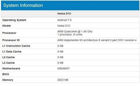 Nokia danh dau su tro lai voi san pham D1C chay Android 7.0 - Anh 1