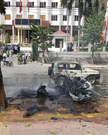 Tai xe taxi tu vong trong vu no o Quang Ninh la ai? - Anh 1