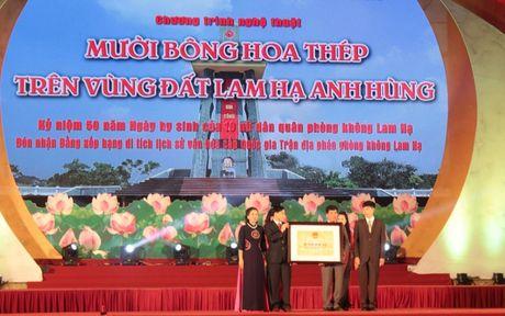 Ha Nam: Nhan bang xep hang di tich lich su cap Quoc gia Tran dia phao phong khong Lam Ha - Anh 4